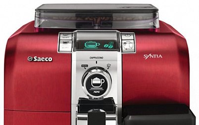 Автоматическая кофемашина Saeco Syntia Cappuccino Stainless Red (HD8838/32)